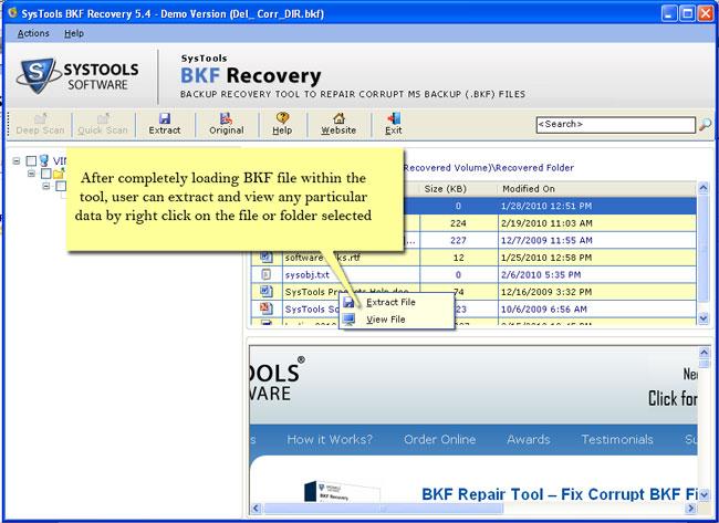 Repair BKF File Flawlessly
